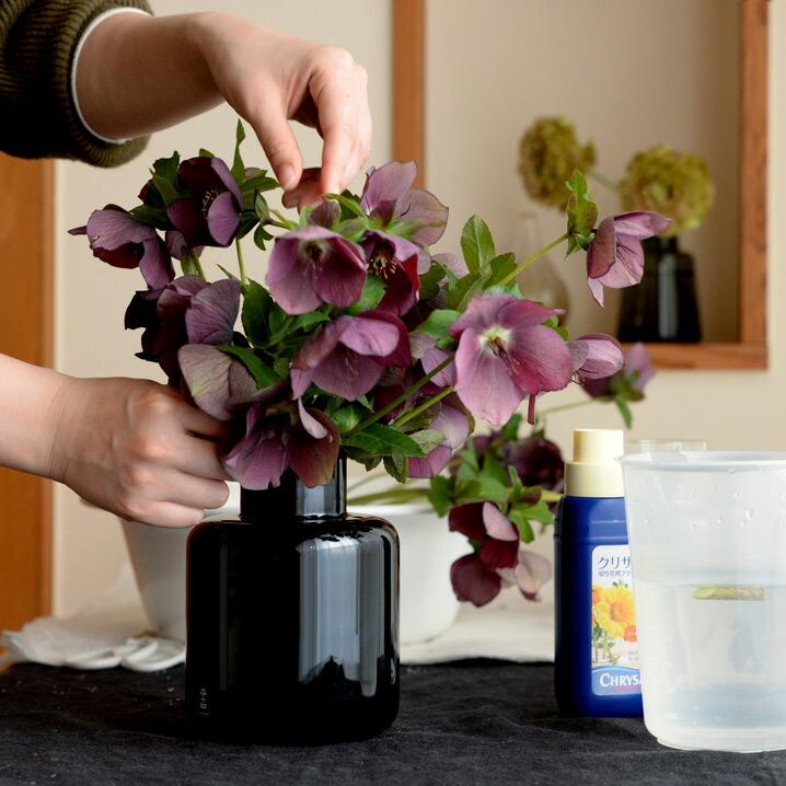 スクルーフSKRUFROベース9877花瓶フラワーベースブラック北欧スウェーデン手吹きガラス