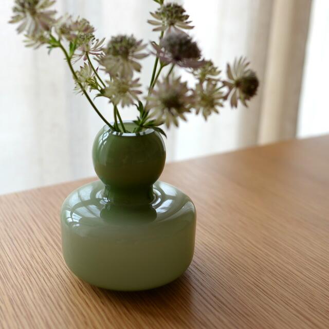 マリメッコ MARIMEKKO 花瓶 フラワーベース 北欧 フィンランド 手吹きガラス