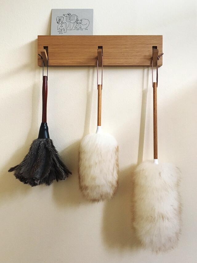 ウールダスターmiwoolliesニュージーランドダスターLミーウーリーズ ラムウールロング天然羊毛100%はたき 無印良品 壁に付けられる家具・3連ハンガー