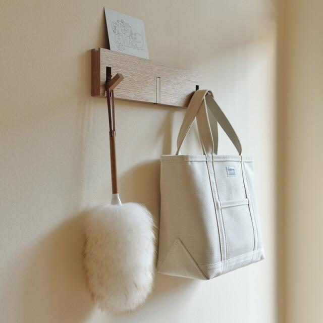 ウールダスターmiwoolliesニュージーランドダスターS羊毛 無印良品 壁に付けられる家具・3連ハンガー