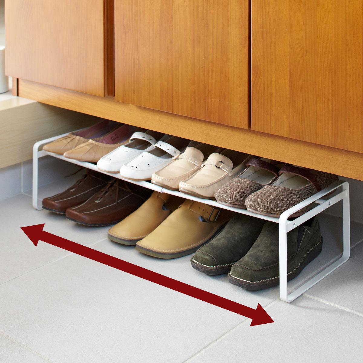 下駄箱 靴箱 靴ラック 玄関収納 伸縮シューズラック フレーム