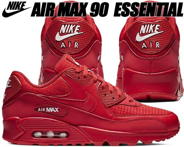NIKE AIR MAX 90 ESSENTIAL university redwhite Kie Ney AMAX 90 sneakers men red red essential aj1285 602