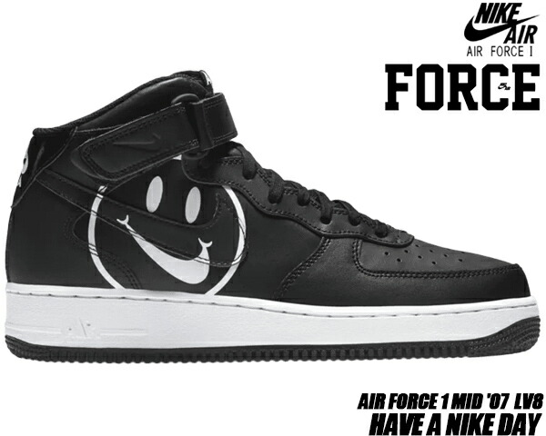 NIKE AIR FORCE 1 MID HAVE A NIKE DAY blackblack white ao2444 001 ナイキ エアフォース 1 ミッドナイキ エアフォース 1 ミッド スニーカー ハブ ア ナイキ デイ ブラック LIMITED EDT