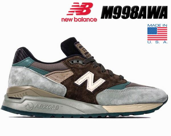 newest b4ab0 c9a5d NEW BALANCE M998AWA MADE IN U.S.A. New Balance 998 NB M998 AWA USA men  sneakers Cross Model Pack