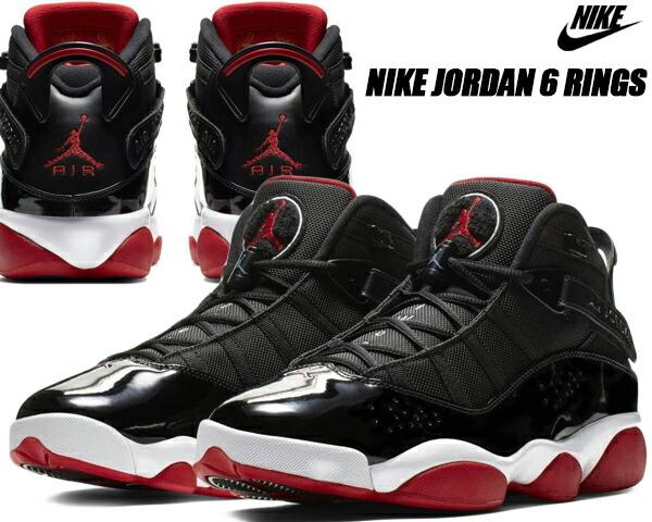 size 40 811a5 df2e3 NIKE JORDAN 6 RINGS black/varsity red-white 322,992-062 Nike Jordan six  RINGS Co.,Ltd. sneakers AJ BRED BULLS AJ XI black red