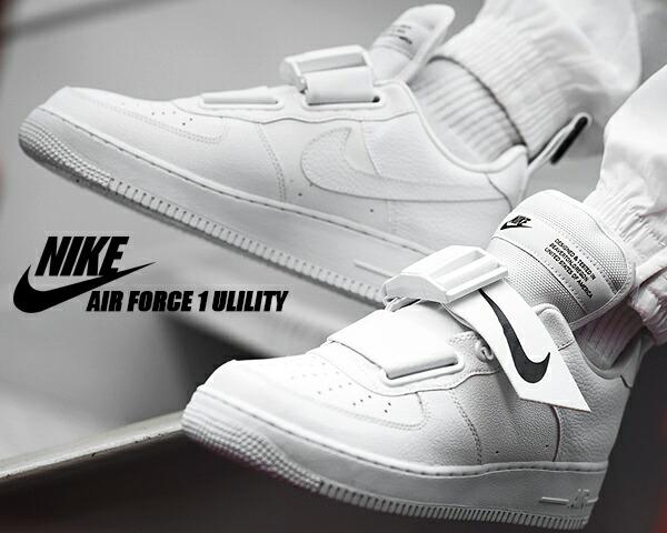 NIKE AIR FORCE 1 UTILITY whitewhite black ao1531 101 Nike air force 1 utility sneakers AF1 white black