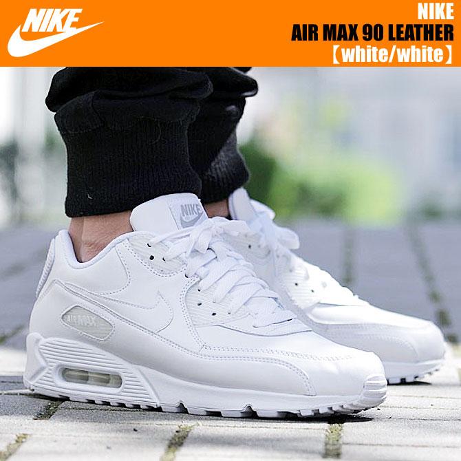 NIKE AIR MAX 90 LEATHER white/white【ナイキ エア マックス 90 レザー スニーカー ホワイト 白 靴 メンズ  あす楽対応 エアマックス】:LIMITED EDT