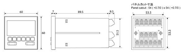 E60外形寸法図
