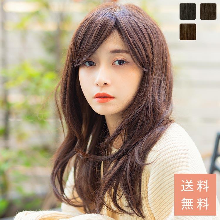 天使の大人フェミニンカール人毛MIX(スキン付)