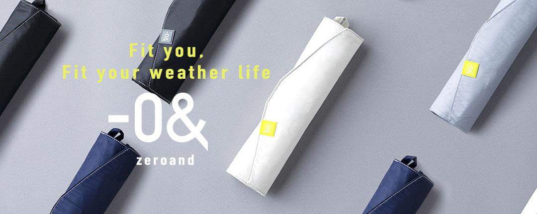 ゼロアンド  -0& 晴雨兼用日傘 男女兼用 シンプル 快適 ストレスフリー