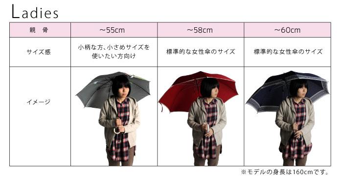 傘のサイズ 女性用 身長