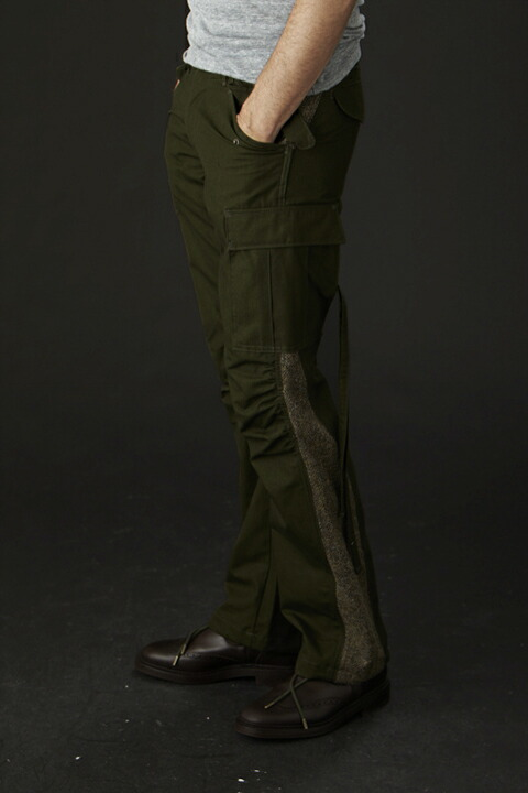 1 piu 1 uguale 3 ウノピゥウノウグァーレトレ 3D MILITARY collection 3D M-65 trouser (straight)
