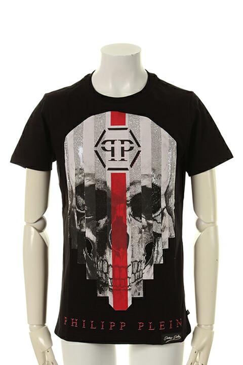PHILIPP PLEIN HOMME フィリッププレインオム T-shirt Round Neck SS My Plein