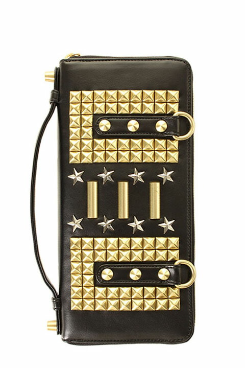 vermilion×underbar ヴァーミリオン×アンダーバー 【underbar Limited】STUDS CLUTCH LONG WALLET