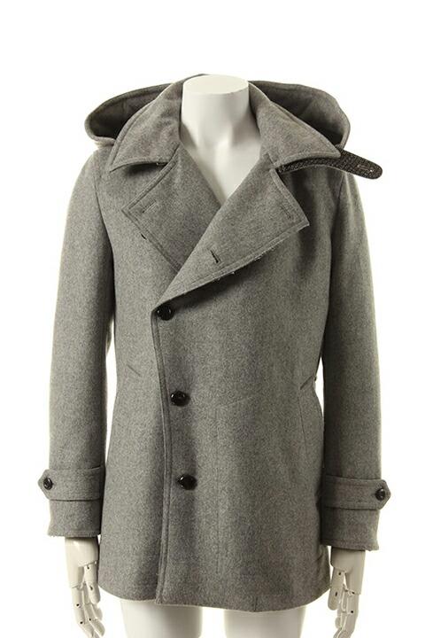 VADEL バデル cashmere melton vintage hooded pea coat