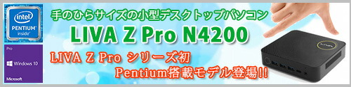 LIVA Z Proに初のPentium搭載モデル登場