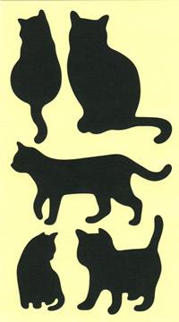 こんな黒猫がいっぱいのシールです