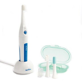 Reclining hydraulic-pulse ultrasonic toothbrush