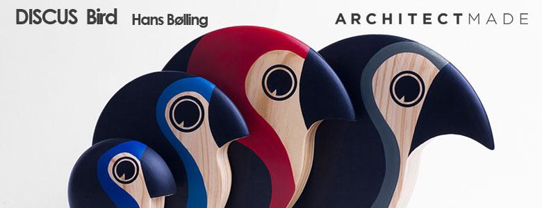 discus,バード,アーキテクトメイド,デンマーク,木製オブジェ置物