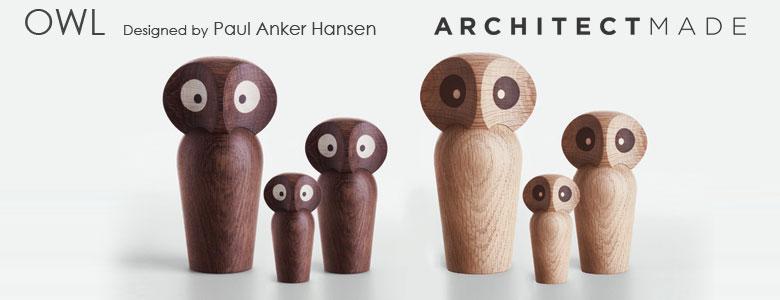 フクロウミニサイズ,アーキテクトメイド,デンマーク,木製オブジェ置物