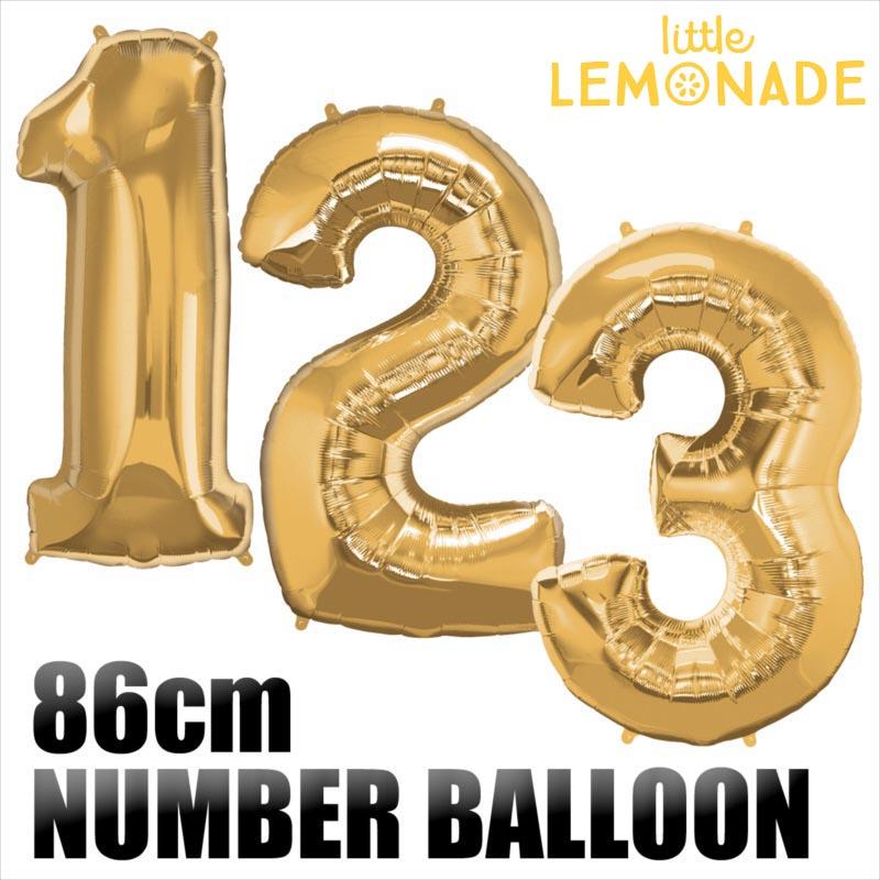 【数字バルーン】約90CMのビッグナンバーバルーン 【ゴールド】