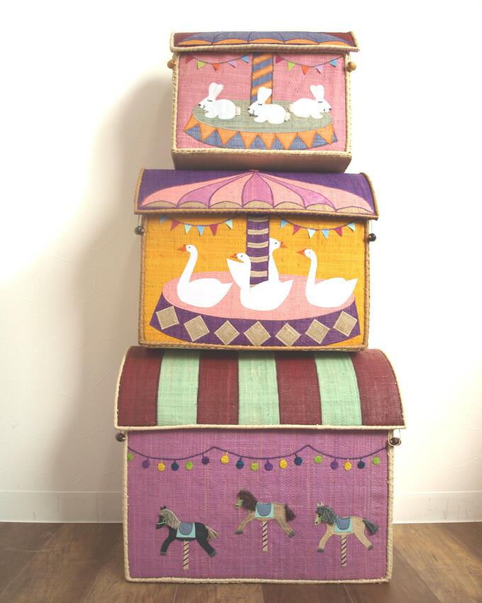 大きくてたっぷり収納♪北欧のとってもかわいいおもちゃ箱