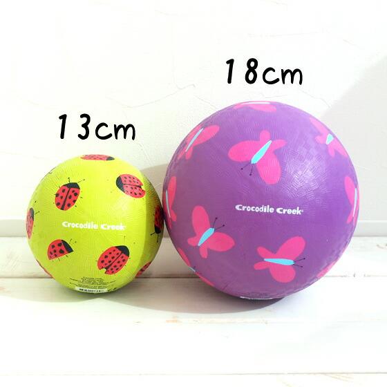カラフルでかわいい柄がたくさん♪アメリカのおもちゃメーカー・クロコダイルクリークのゴムボール18cm