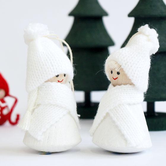 小さくてかわいい木製のクリスマスオーナメント/ラッセントレー/北欧雑貨