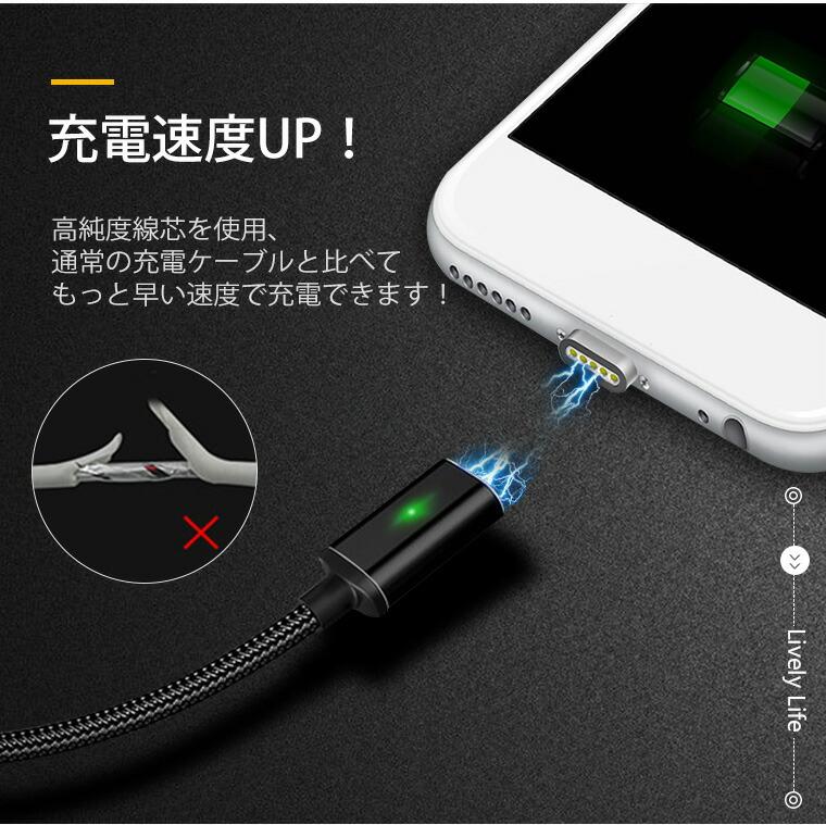 micro USB マグネット ケーブル