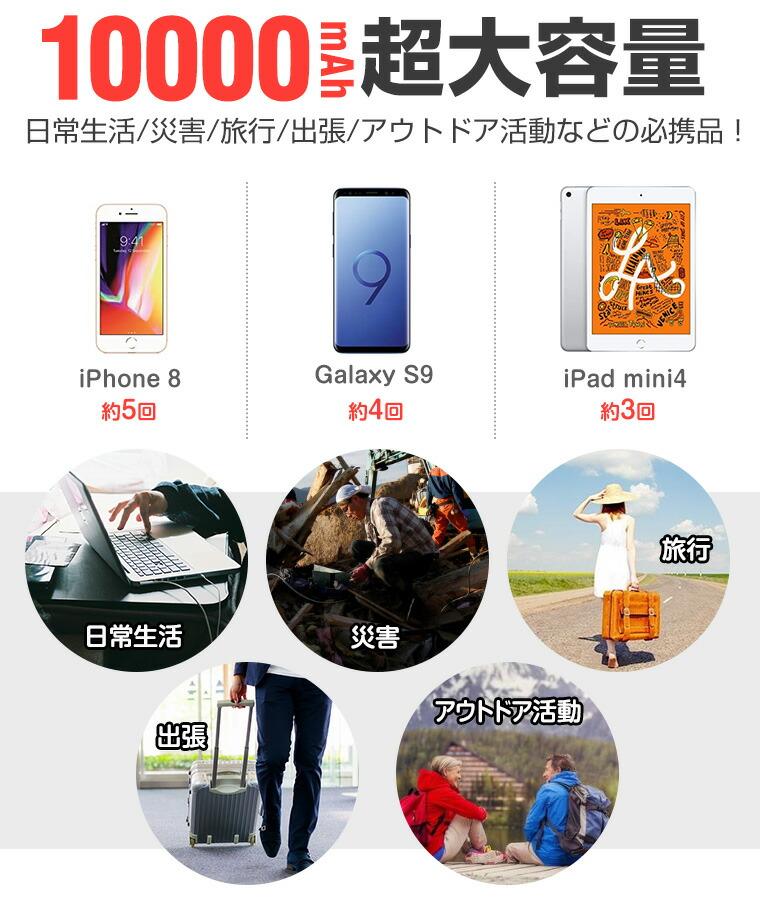 iPhone X モバイルバッテリー 大容量