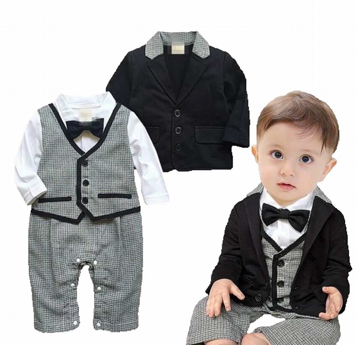 楽天市場】【送料無料】 子供服 ロンパース 男の子 フォーマル スーツ