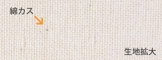 オーガニックコットンダブルガーゼの綿カス拡大図