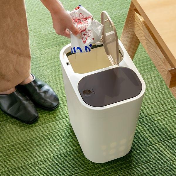 分別ゴミ箱 15L 小型 ふた付き 部屋用 ホワイト