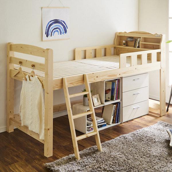 ロフトベッド シングル 木製