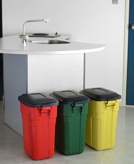 livingut | Rakuten Global Market: Trash bin with lid square trash ...