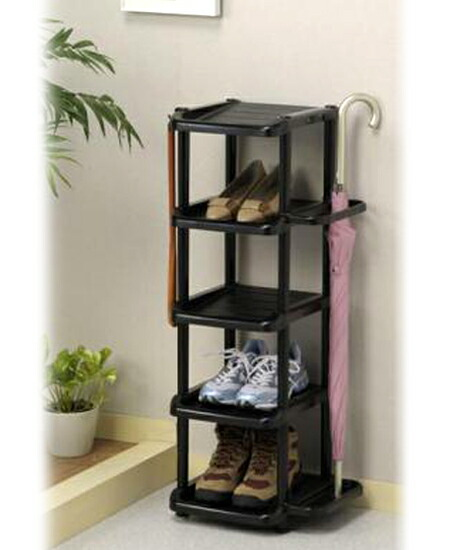 Nice Umbrella Stand Shoe Rack 5 Stage Is A Single Type With Hook Hung Up And Shoehorn