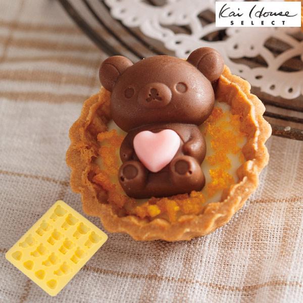チョコレート型 シリコン製 お風呂 リラックマ キャラクター 16個取 ( チョコ シリコン型 製菓道具 グミ 型 チョコ型 型 製菓 タルト デコレーション )