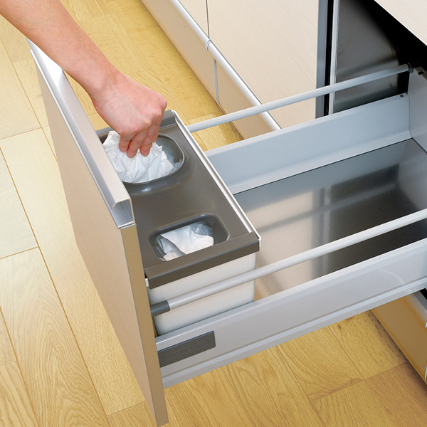 Plastic Shopping Bags Can Be Stored In Clean Private Box Is. This Is Useful  In Kitchen Pull Out System Organized.