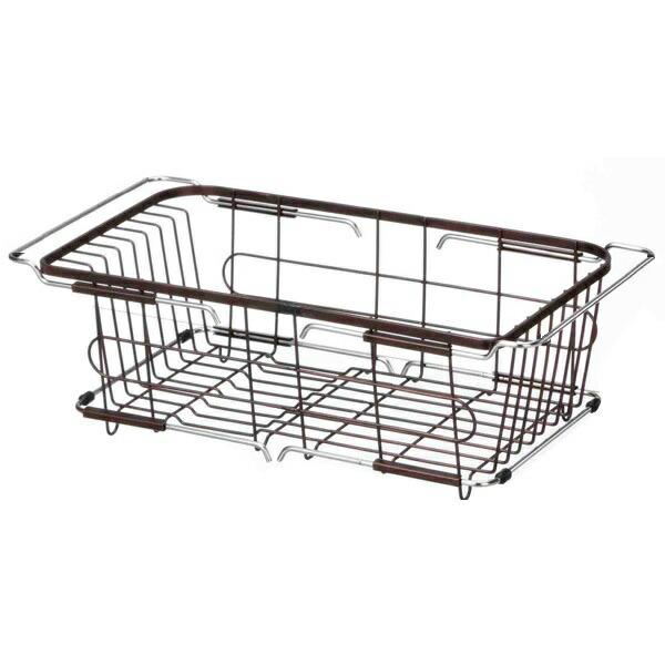 Livingut Dish Drainer Rack Slide 2 Way Sink Basket Favier