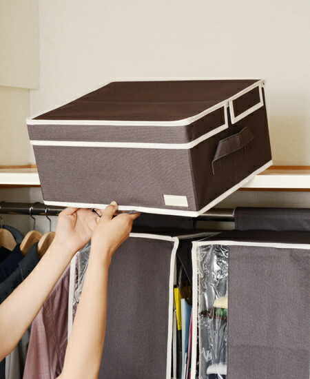 What I usually do not use too much in the closet top. Perfect for storing off-season clothing album etc. & interior-palette | Rakuten Global Market: With handle storage box ...