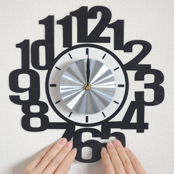 ウォールクロックステッカー 時計 ナンバー