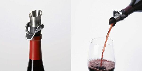 OXO オクソーワインストッパー & pourer (stopper wine goods wine pourer wine stopper wine  cap bottle stopper beak pourer pourer liquid who prevention decanting