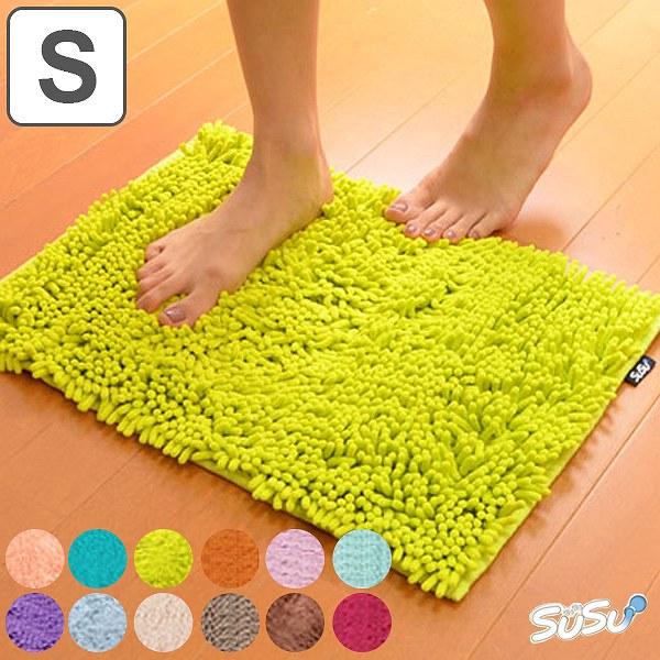 スーパードライバスマット SUSU(スウスウ・吸う吸う) Sサイズ 36×50cm 抗菌仕様 ( マイクロファイバー 風呂マット )