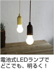 ロープランプ 電池式 電球型LEDライト