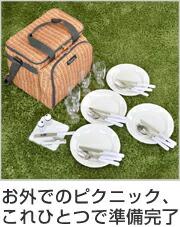 食器付きピクニックバスケット バカンスクーラー PANIER