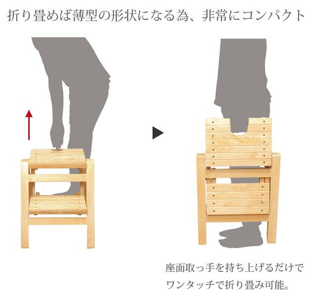 折畳みステップチェア2段