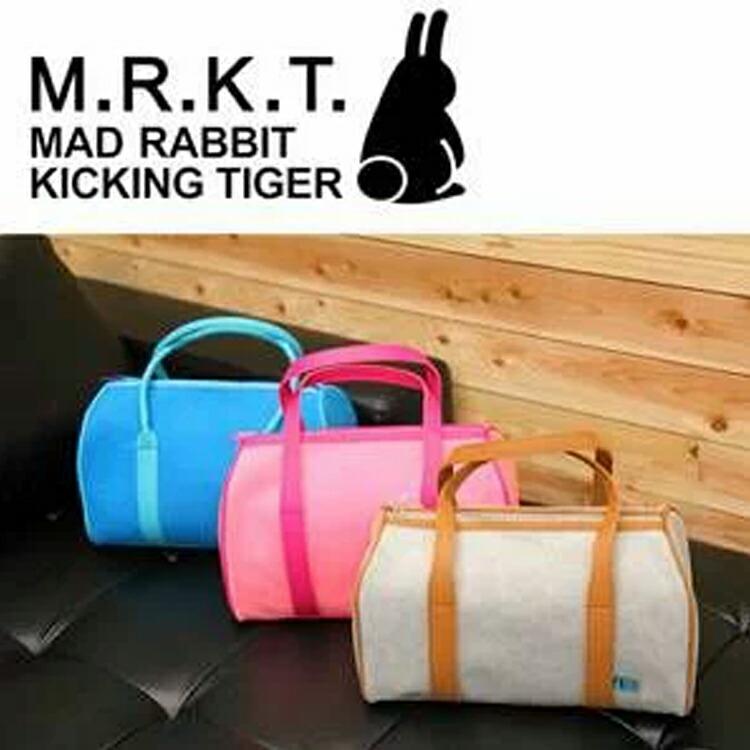 M.R.K.T Garfileld Hand bag ガーフィールド ハンドバッグ フェルト素材 サーモ樹脂 mrkt