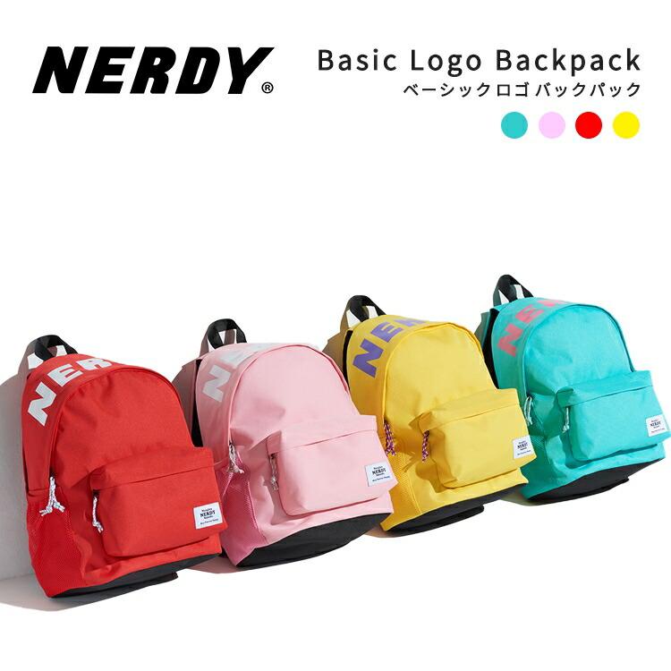 NERDY ノルディ Basic Logo Backpack バックパック リュックサック バック 原宿 メンズ レディース nerdy 正規品