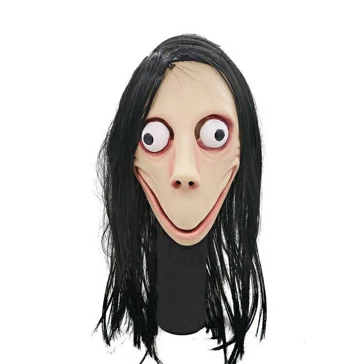 momo モモ マスク モモチャレンジ ハロウィン コスプレ 衣装 仮装 ホラー SNS お面 仮面 被り物 都市伝説 キャラクター
