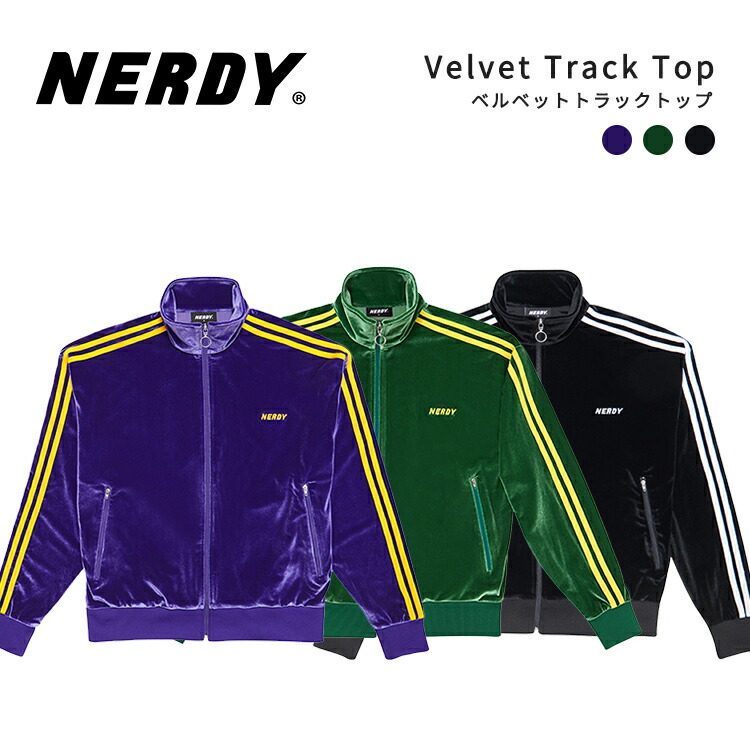 NERDY,ノルディ,Velvet,Track,Top,ベルベット,トラック,トップ,韓国,ZICO,原宿,メンズ,レディース,ユニセックス,ジャージ,nerdy,正規NERDY ノルディ NY Track Top